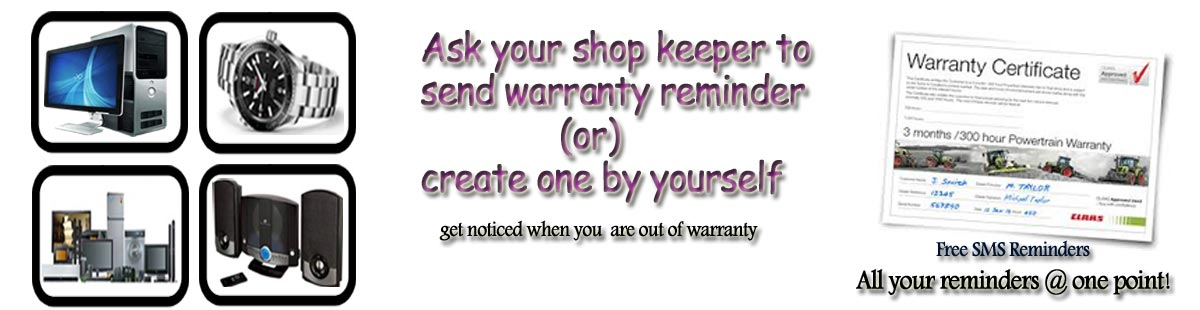 warranty reminder free on sms